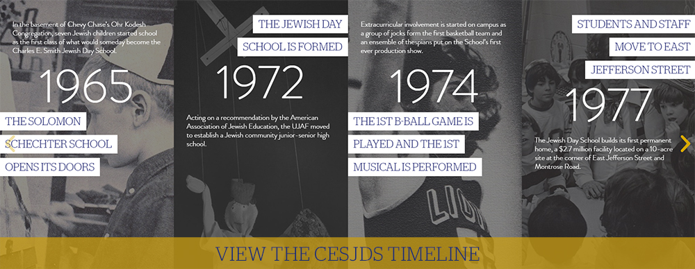 View the CESJDS Timeline to learn our history!