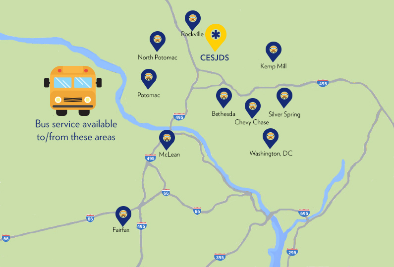 CESJDS Bus Transportation map