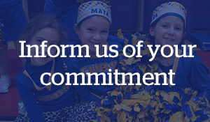 Inform us of your commitment