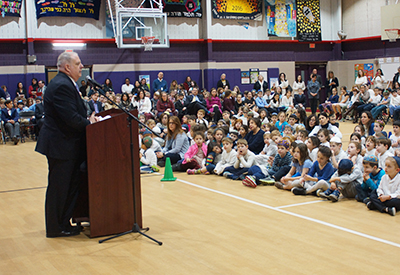Governor Hogan visits the CESJDS Lower School